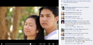 Screenshot of a short video uploaded to Facebook showing comments and likes of viewers to that video
